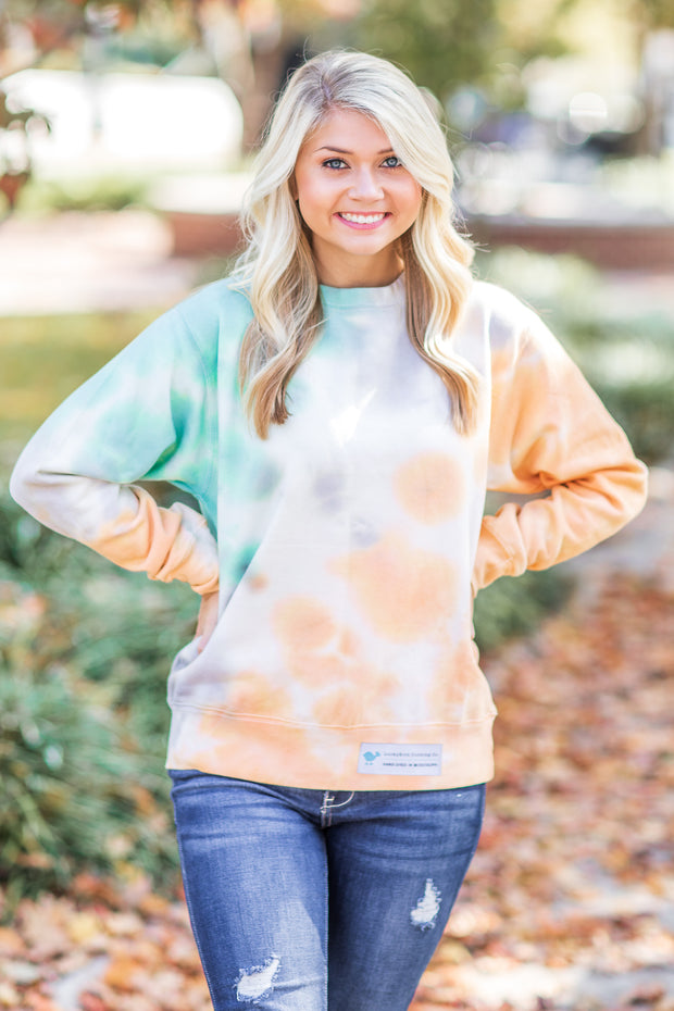 Fall Night Tie Dye Sweatshirt - FINAL SALE