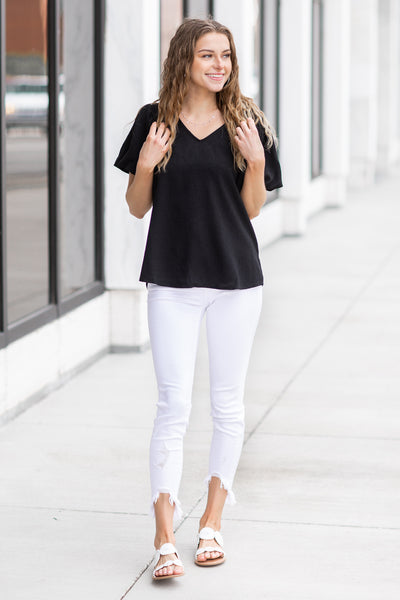 Gracelynn Puff Sleeve Top Black