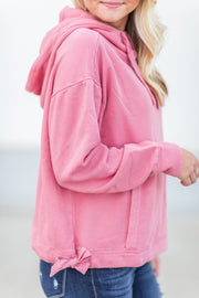 Laconia Hooded Sweatshirt Crystal Pink
