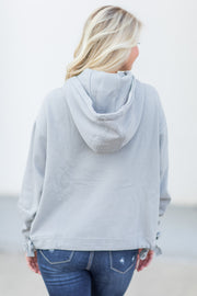 Laconia Hooded Sweatshirt Light Grey