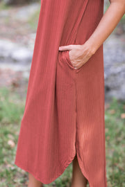 Payton Ribbed Maxi Dress Terra Cotta