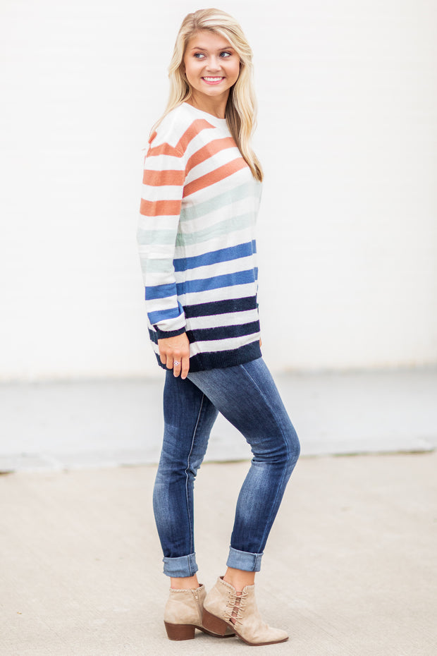 Ashlee Striped Sweater Multi