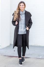 """Baby It's Cold"" Coat Black"
