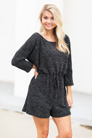 Calista Lounge Romper Black - FINAL SALE