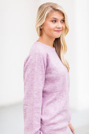 Harlow Long Sleeve Sweater Lavender