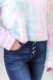 """Sweetest Dreams"" Tie Dye Sherpa Pullover"