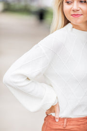 Juniper Diamond Sweater Ivory