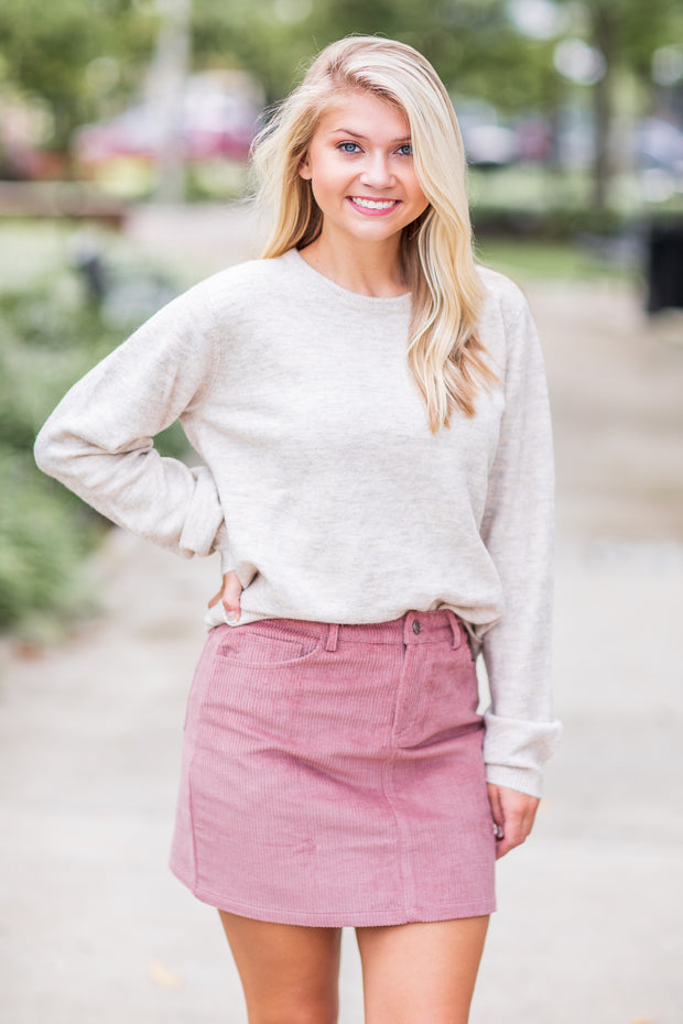 Harlow Long Sleeve Sweater Taupe