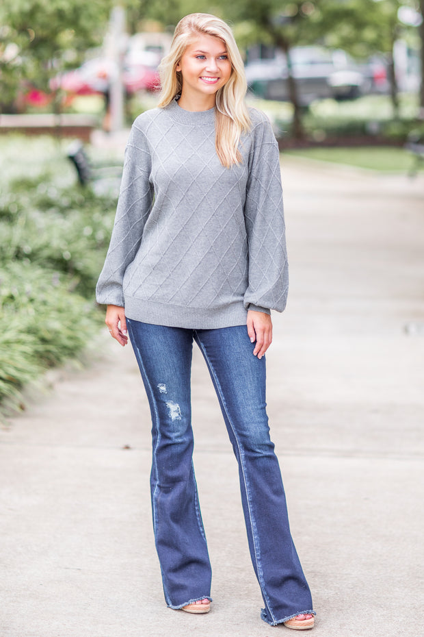 Juniper Diamond Sweater Grey