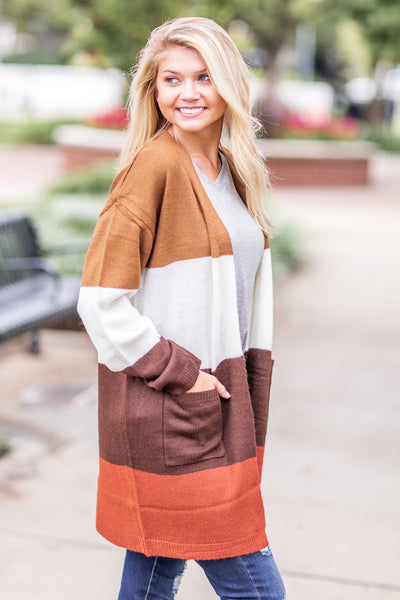 Melbourne Color Block Cardigan