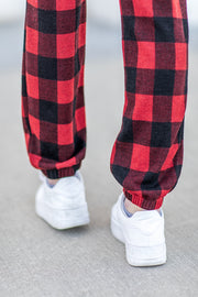 """Sleigh Ride"" Buffalo Plaid Joggers"