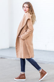 """Baby It's Cold"" Coat Camel"