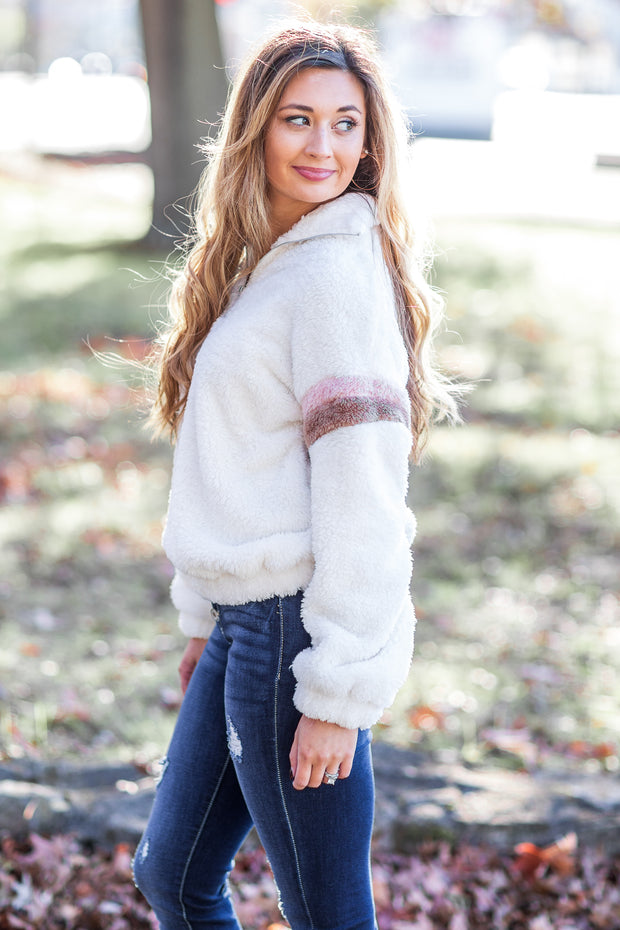 """Snuggled Up"" Pullover Ivory"
