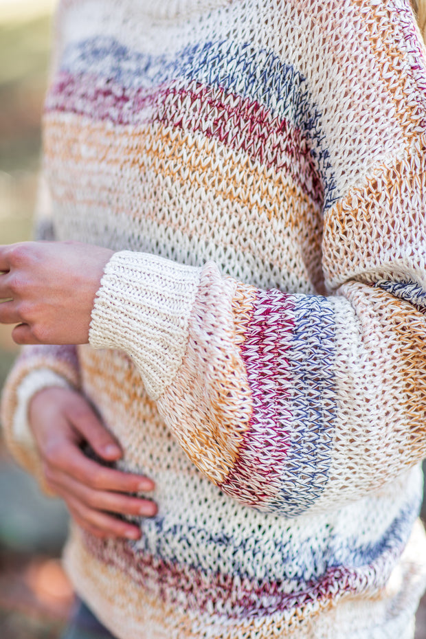 Wren Knit Sweater Ivory/Mustard