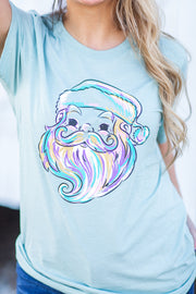 Watercolor Santa Graphic Tee - FINAL SALE