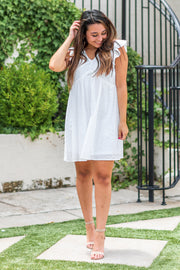 Grace Short Eyelet Dress White