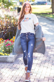 Pumpkin Lovin' Graphic Tee - FINAL SALE