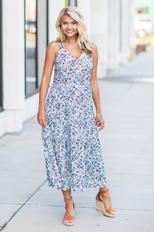 """Follow Me"" Floral Midi Dress"