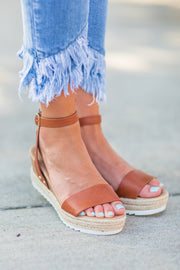 Sam Wedge Espadrille Sandal Brown
