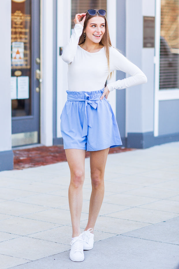 Steele Paper Bag Shorts Chambray
