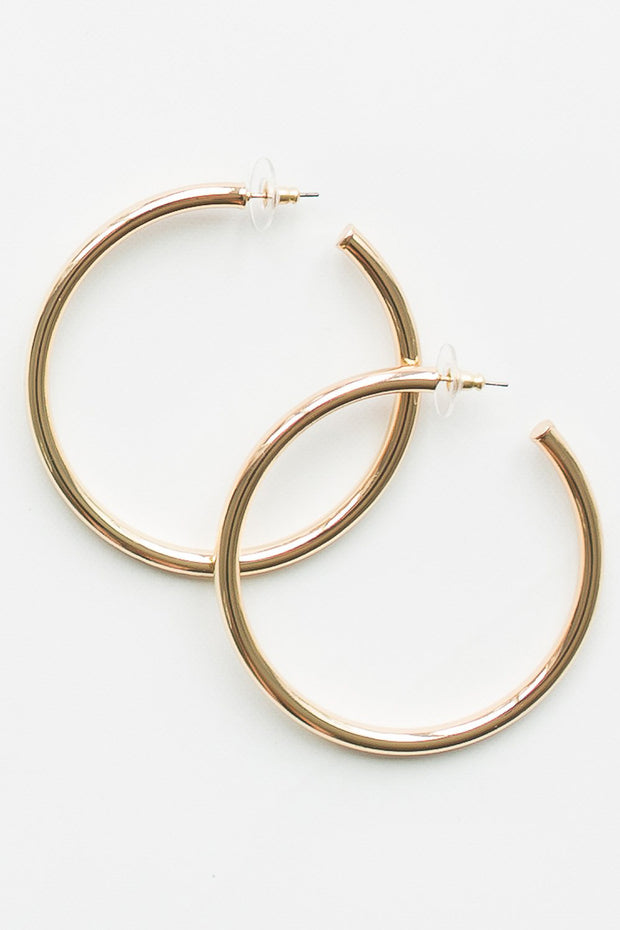 Salem Hoop Earrings Shiny Gold