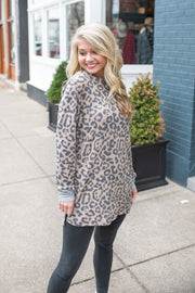 Kiera Cheetah Print Hooded Sweatshirt