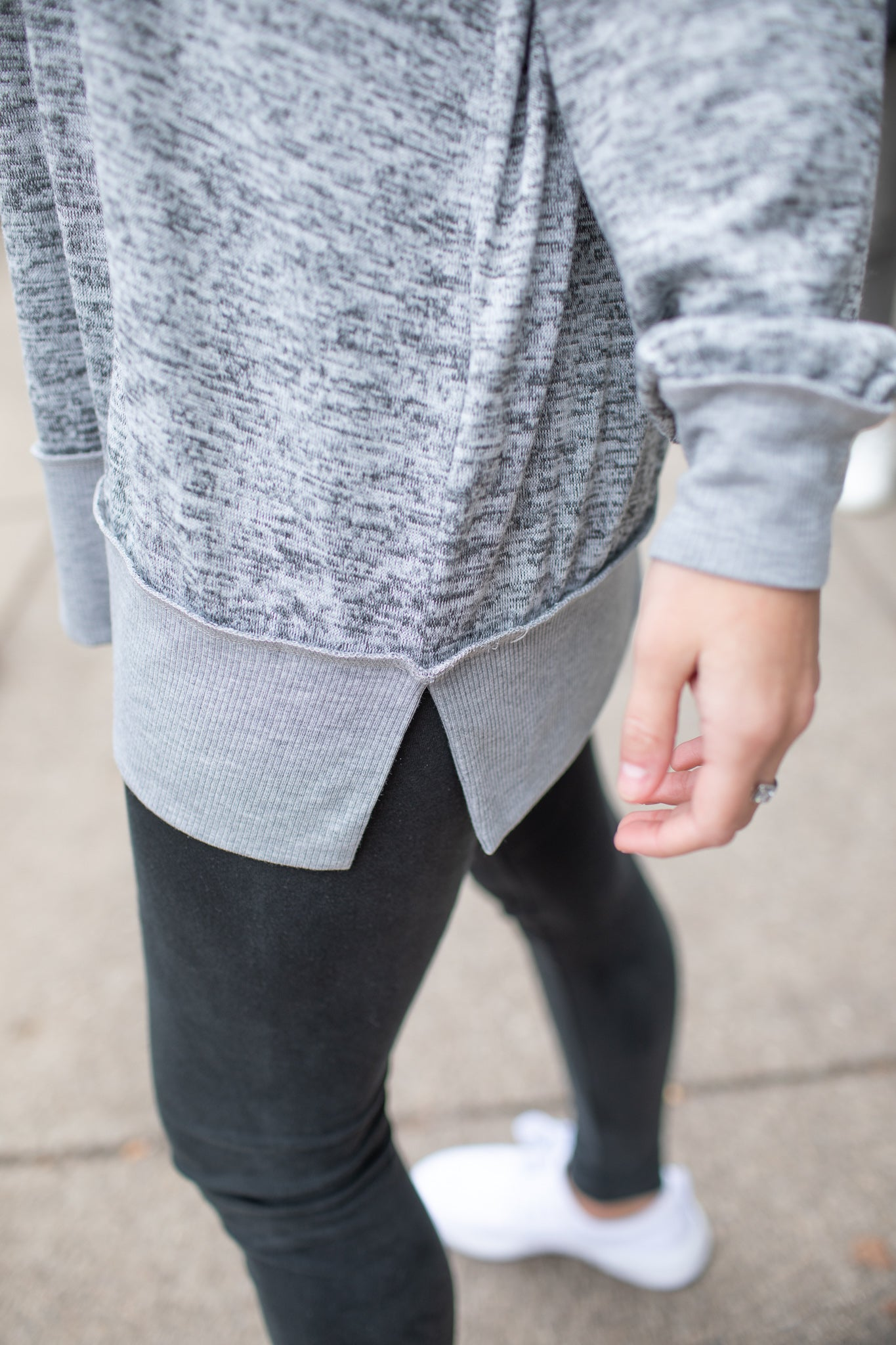 Bree Heathered Sweatshirt Grey