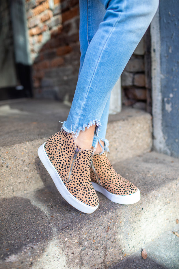 """Tiffany"" Sneaker Wedge Cheetah Print"