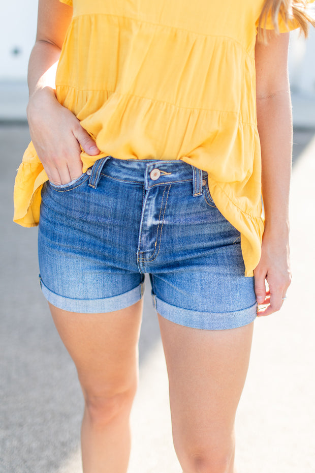 Beckett Denim Shorts Medium Wash
