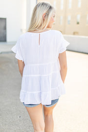 Ready For The Day Babydoll Top Ivory