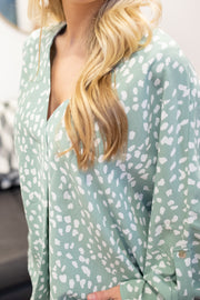 Lily Printed Blouse Sage