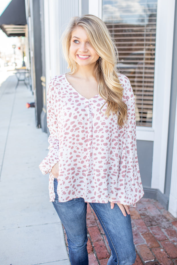 Carli Spotted Print Blouse