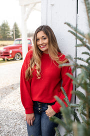 Aspen Knit Sweater Red