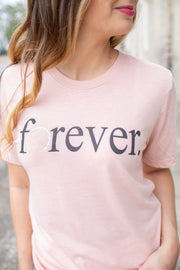 """Forever"" Foil Graphic Tee"