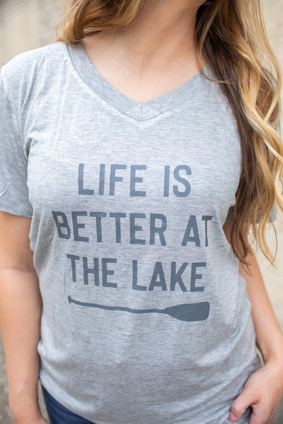 """Life's Better At The Lake"" Graphic Tee"
