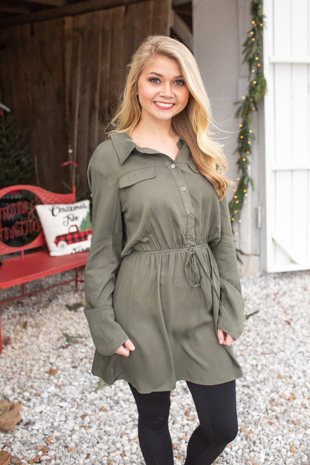 Stevie Utility Dress Green