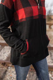 """Dasher"" Buffalo Plaid 1/4 Zip Pullover"