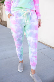"""Livin' The Life"" Tie-Dye Joggers"