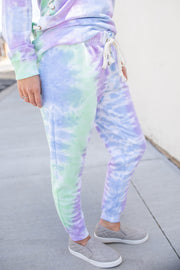 """On The Bright Side"" Tie-Dye Joggers"