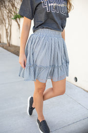 """Such A Flirt"" Swiss Dot Skirt Grey"