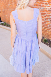 Blake Striped Sun Dress Blue/Ivory