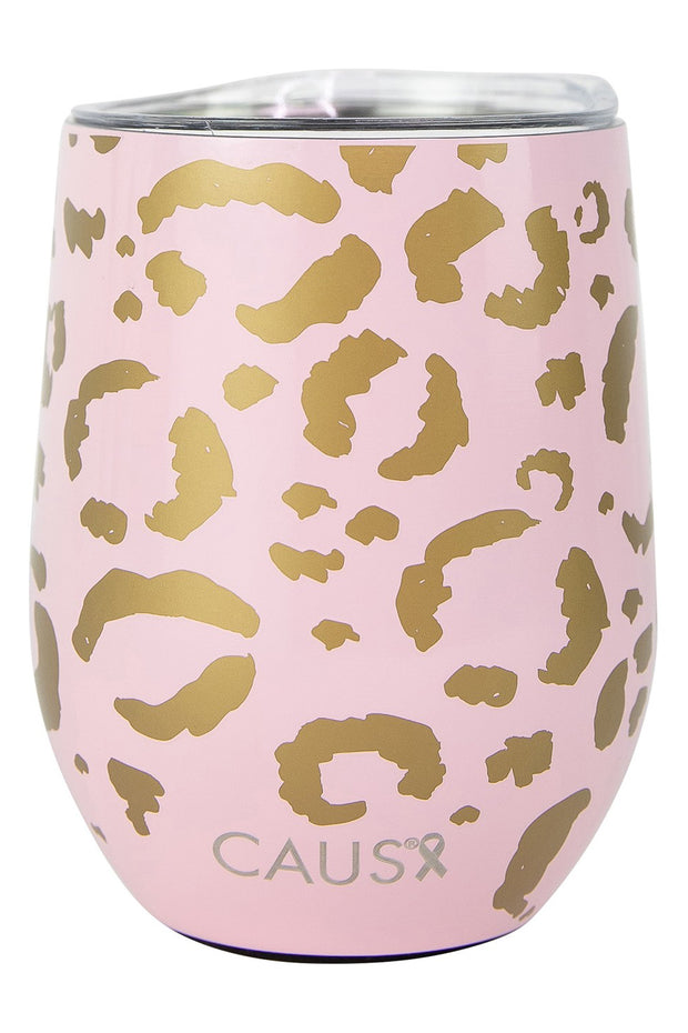 CAUS Stemless Tumbler Blush Leopard - Women's Cancers