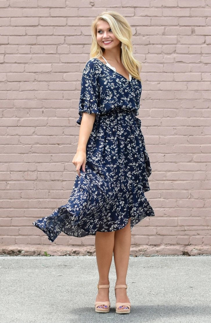 Birdie Floral Dress Navy