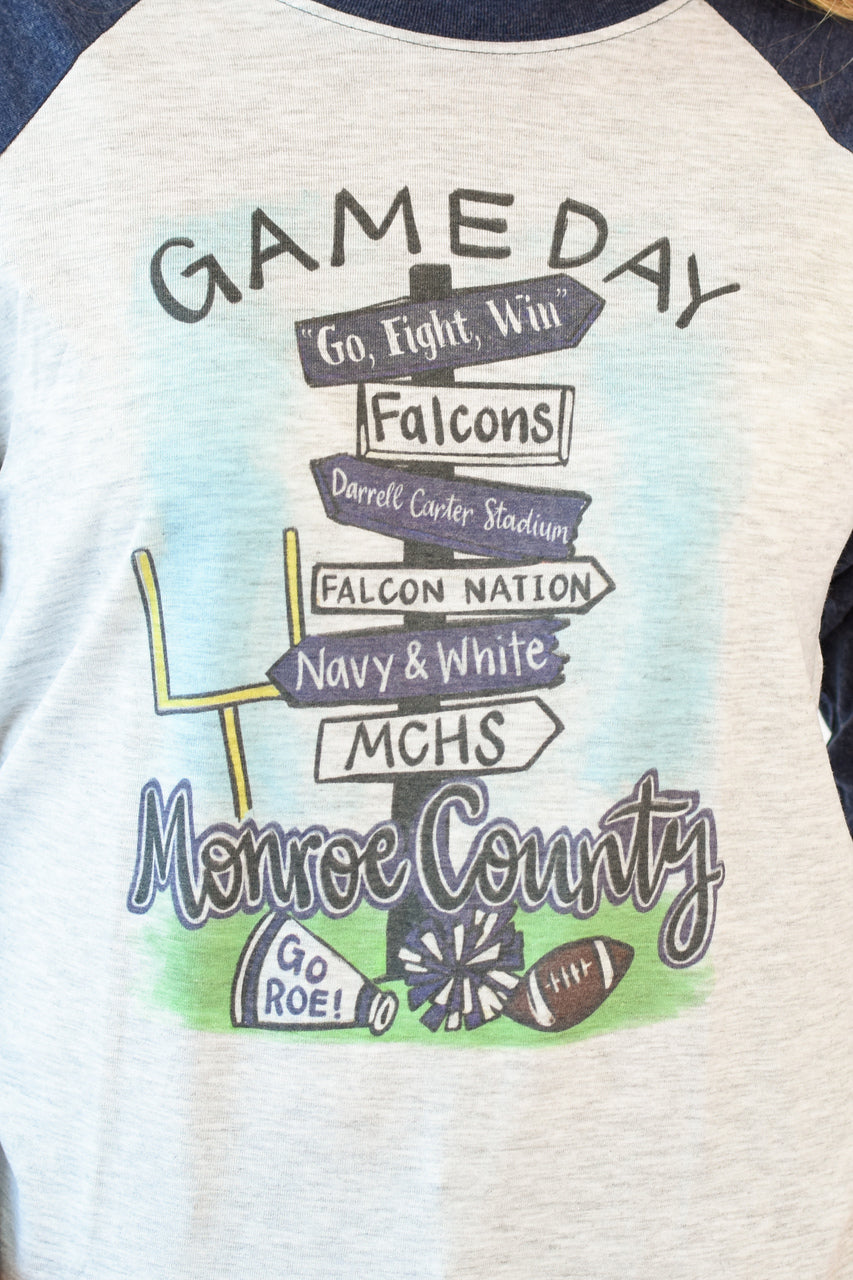 MCHS Game Day Road Sign Raglan