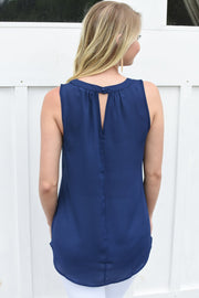Piper Tank Blouse Navy