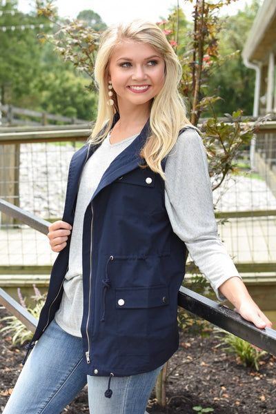 Spencer Utility Vest Navy
