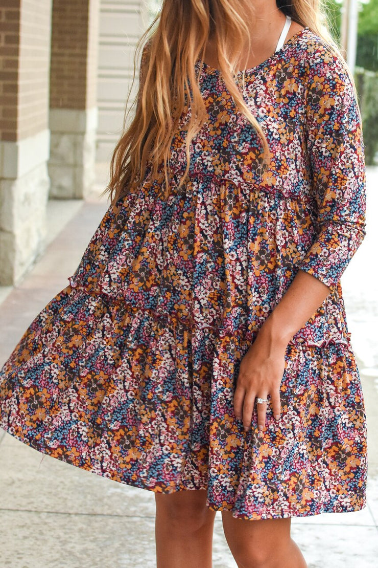 Kendrick Tiered Floral Swing Dress