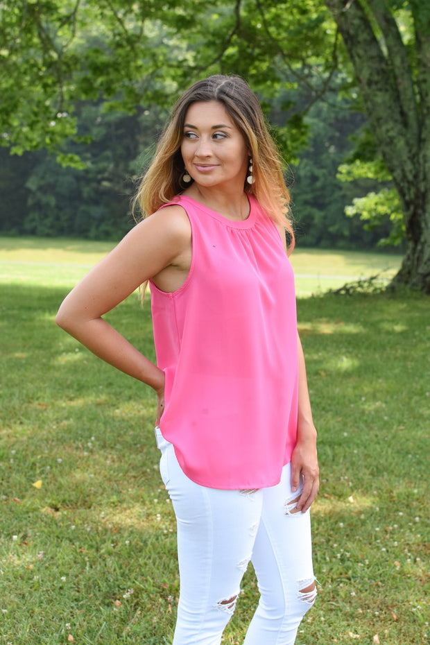 Piper Tank Blouse Pink