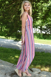 Myra Striped Jumpsuit