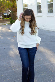 Aspen Knit Sweater Ivory